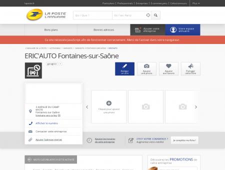 ERIC'AUTO - Garagiste à Fontaines-sur-Saône...
