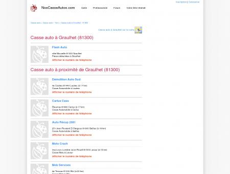 Casse auto Graulhet - 81300 - Avis casses...