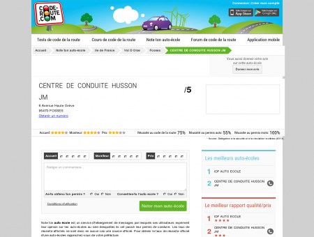 CENTRE DE CONDUITE HUSSON JM (FOSSES...
