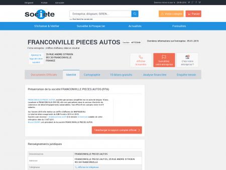FRANCONVILLE PIECES AUTOS...
