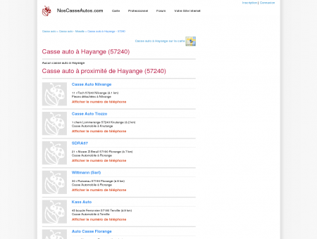 Casse auto Hayange - 57240 - Avis casses...