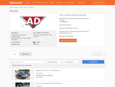 Boutique SP AUTOS Véhicules Gardanne -...