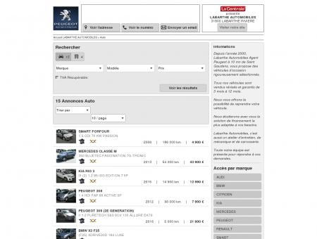 LABARTHE AUTOMOBILES : Concessionnaire...