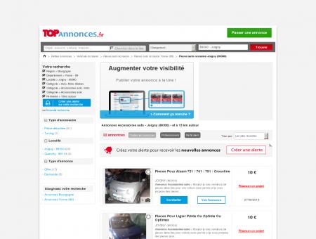 Achat vente auto occasion Joigny (89300) -...