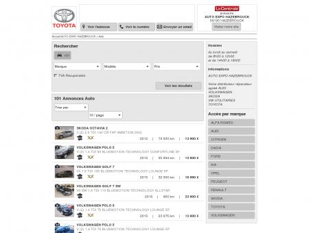 AUTO EXPO HAZEBROUCK : Concessionnaire...