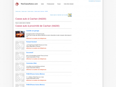 Casse auto Cachan - 94230 - Avis casses autos...