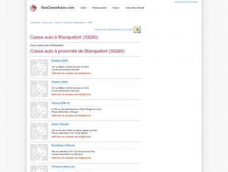 Casse auto Blanquefort - 33290 - Avis casses...