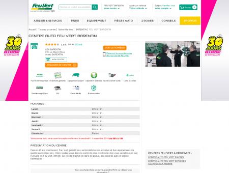 Centre auto BARENTIN - (76360) - Feu Vert