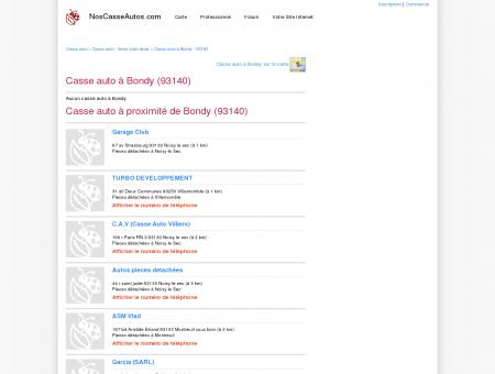 Casse auto Bondy - 93140 - Avis casses autos...