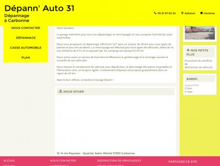 Accueil - Dépann' Auto 31 à Carbonne, dans la...