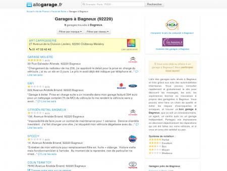 Garage Bagneux (92220) - Comparatif des...