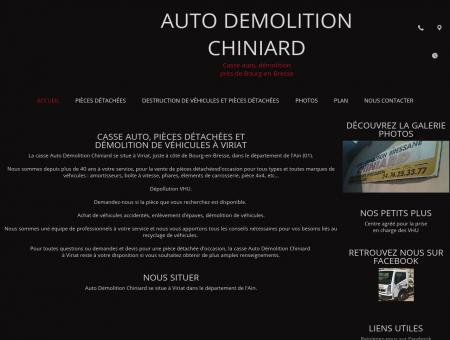 Auto Démolition Chiniard à Viriat dans l'Ain (01)