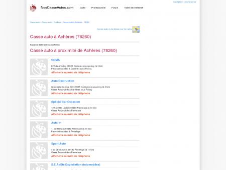 Casse auto Achères - 78260 - Avis casses...