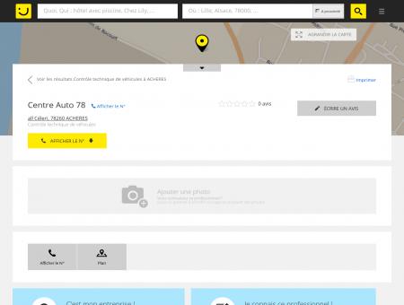 Centre Auto 78 Achères (adresse) -...