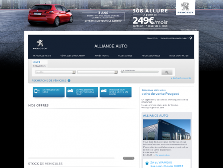 ALLIANCE AUTO, Votre point de vente Peugeot