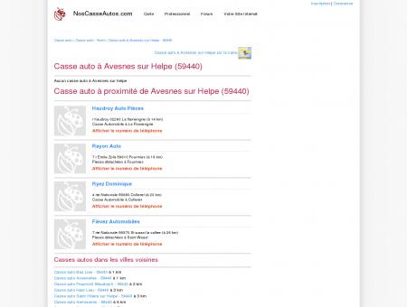 Casse auto Avesnes sur Helpe - 59440 - Avis...