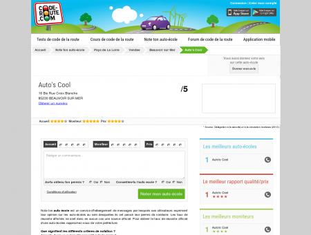 Auto's Cool (BEAUVOIR SUR MER 85230) ::...