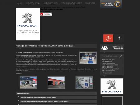 Garage automobile Peugeot à Aulnay-sous...