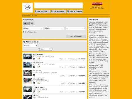 EUROP AUTO : Concessionnaire OPEL ST...