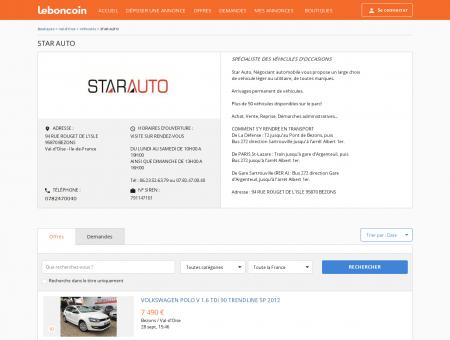 Boutique STAR AUTO Véhicules BEZONS -...