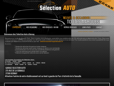 Garage auto Bernay, voitures d'occasion Eure...