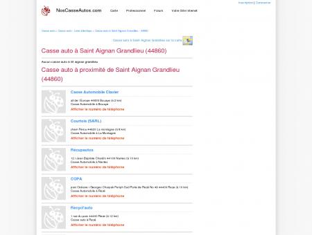 Casse auto Saint Aignan Grandlieu - 44860 -...
