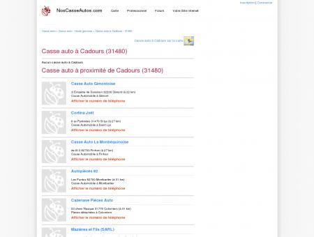 Casse auto Cadours - 31480 - Avis casses...