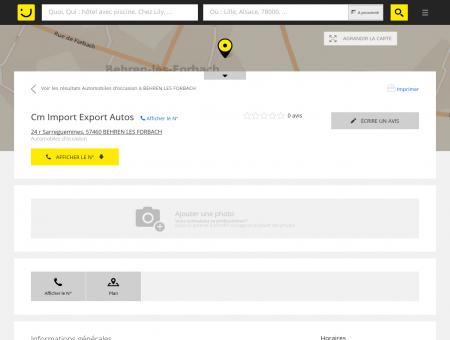 Cm Import Export Autos Behren lès Forbach...