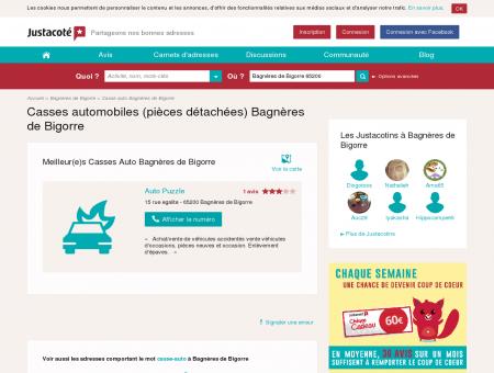 Casse automobile Bagnères de Bigorre 65200