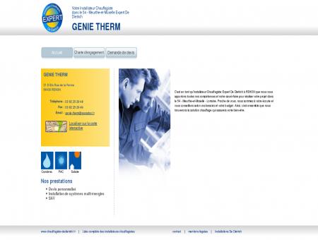 GENIE THERM | Installateur chauffagiste...
