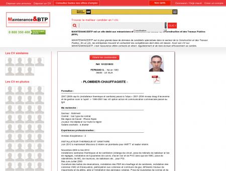 CV PLOMBIER-CHAUFFAGISTE sur...