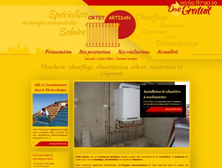 Ortet artisans, spécialistes plomberie et...
