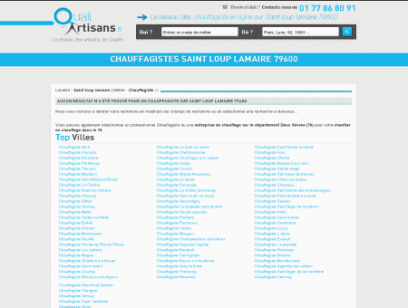 Chauffagiste Saint loup lamaire 79600