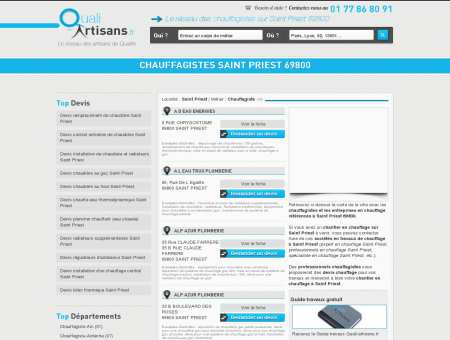 Chauffagiste Saint Priest 69800