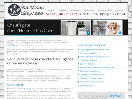 Chauffagiste bruxelles express: Services...
