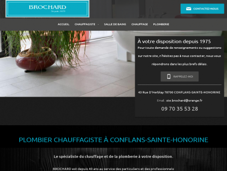 Chauffagiste, plombier à Conflans-Sainte...