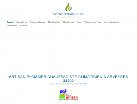 Eco-Thermique 33 - Artisan plombier...