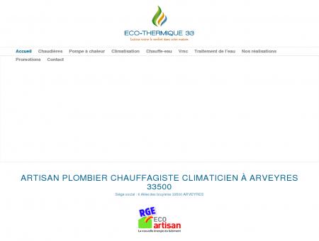 Eco-Thermique 33 - Artisan plombier...