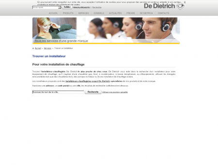 Installateur chauffagiste expert De Dietrich :...