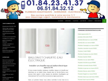 installation chauffe-eau electrique et ballon...