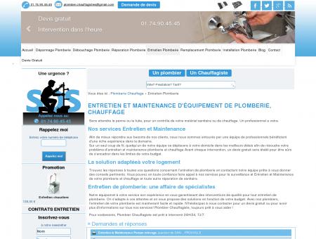 Maintenance plomberie - chauffage Plombier...