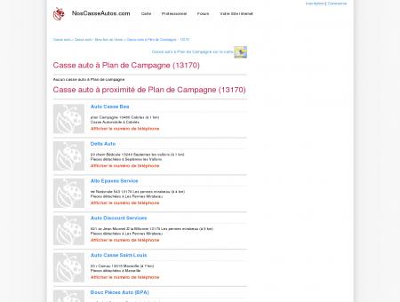 Casse auto Plan de Campagne - 13170 - Avis...