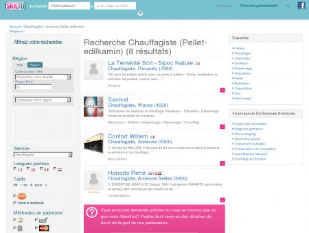 Chauffagiste (Pellet-edilkamin) Belgique | Skilto