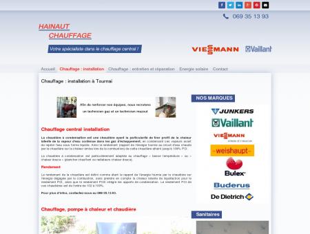 Installation chauffage central tournai,...