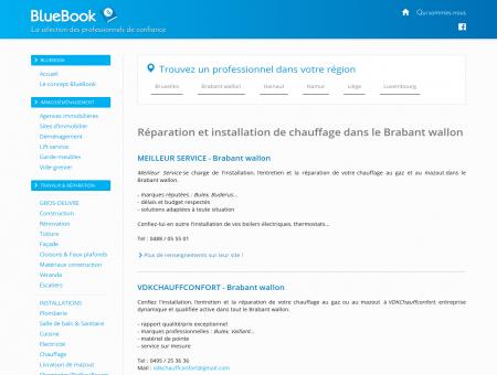 Chauffagistes Brabant wallon : Wavre,...