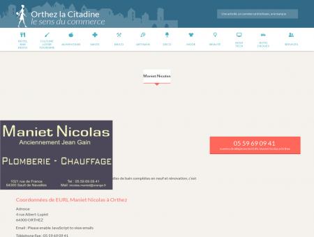 EURL Maniet Nicolas - Plombier - Chauffagiste...