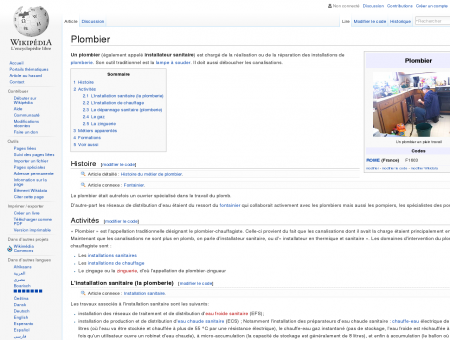 Plombier  Wikipédia