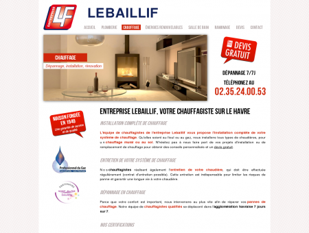 Chauffage - Entreprise LEBAILLIF - Chauffagiste...