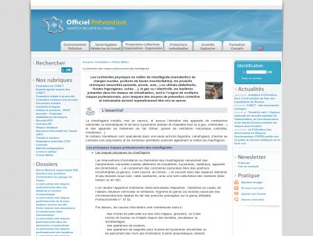 Dossiers CHSCT : La prévention des risques...