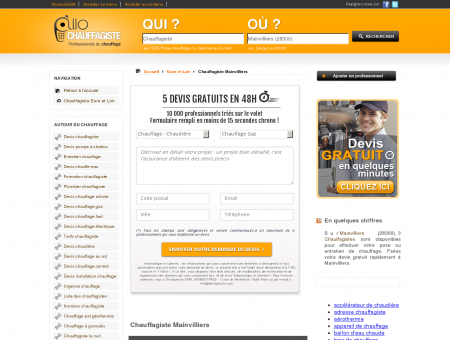 Chauffagiste Mainvilliers 28300